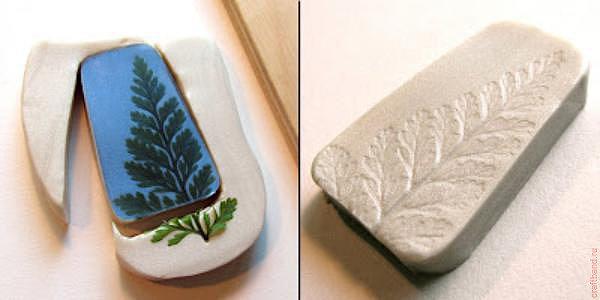 Что делают из полимерной глины отпечатки