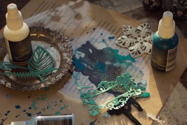 покрытие фурнитуры патинирующими красками scrapego