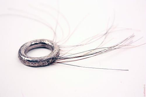 необычные кольца, кольцо с щетиной 2
