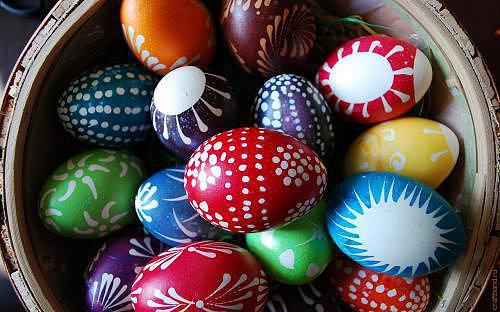окрашивание яиц, расписные яйца 4