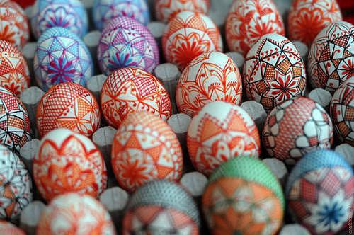 окрашивание яиц, рисунок