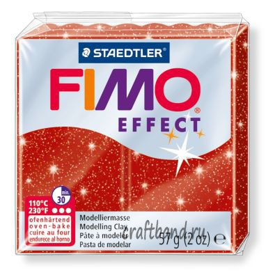 Полимерная глина Fimo Effect 8020-202 glitter red