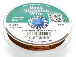Леска GRIFFIN Bead Stringing Wire 10 м. коричневый