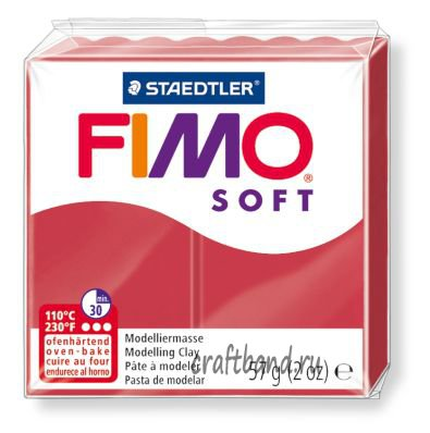 Полимерная глина Fimo Soft 8020-26 cherry red